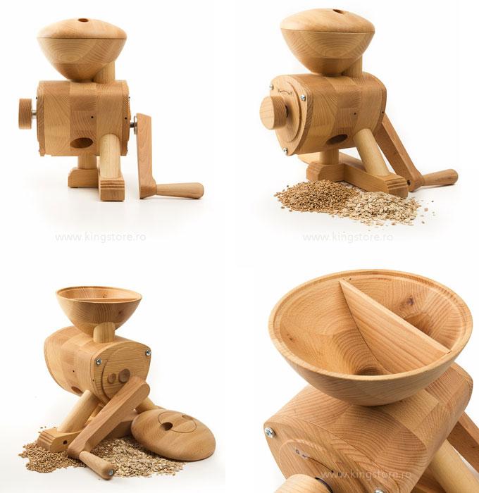 Moara de cereale manuala