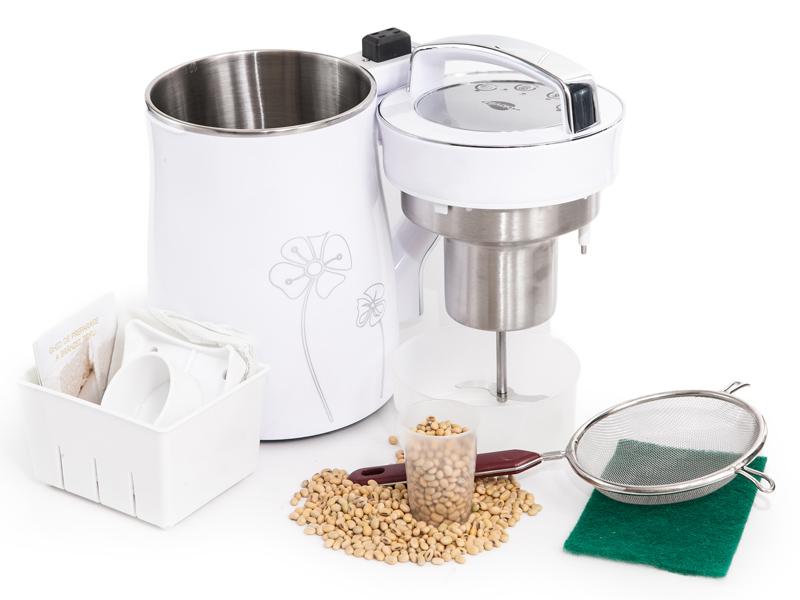 Aparat lapte de soia 1.1-1.3 Litri (Alb+Argintiu)